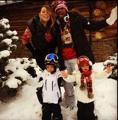 Mariah Carey spends holidays in Aspen