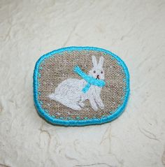 "Brooch ""Winter Rabbit"" 