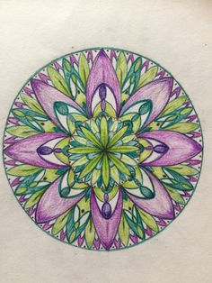 Mandala made by ruler and me