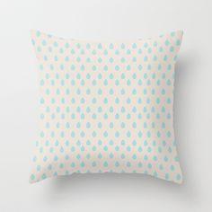Vector Raindrops Throw Pillow by Rachel Winkelman - $20.00