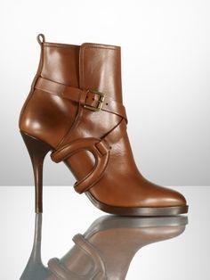 Keanna Equestrian Calf Bootie - Ralph Lauren Collection Collection Shoes - RalphLauren.com