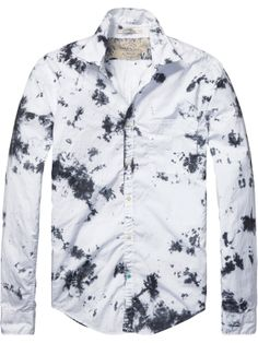 shirt with roll-up sleeves | Shirt l/s | Men Clothing at Scotch & Soda