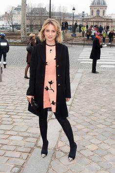 Dianna Agron's Top 27 looks: Louis Vuitton Show at Paris Fashion Week