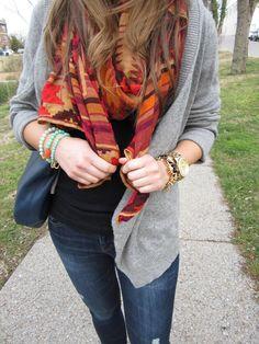 beautiful Theodora and Callum scarf