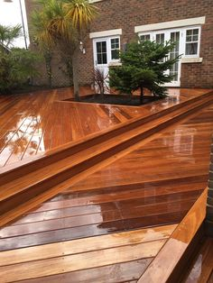 At London Decking Company we create beautiful timber and composite decking areas throughout the London,UK, using the best materials and experienced staff. Hardwood Decking, Ipe Wood, Decking Area, Composite Decking, Back Gardens, Surrey, Yard, London, Outdoor Decor