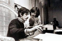 George Harrison and Derek Taylor at Apple Corps