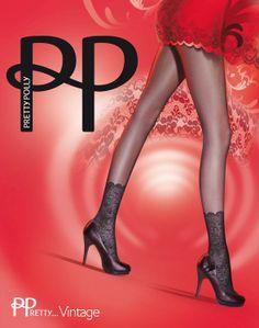 Pretty Polly Vintage Lace Anklet panty heeft van de voet tot de enkel een kanten design .Op de enkel zit het design van een vintage kanten enkelbandje, waardoor het lijkt alsof je kanten sokjes aan hebt.
