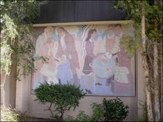 Helen Lundeberg's murals QUESTS OF MANKIND have been a prominent feature on our campus since 1940. She created them during the Great Depression while working for the W.P.A.'s Federal Art Project. The murals originally hung as five separate pieces on the outside north wall of the Assembly Hall. Today, they are displayed on the Oral Arts Building, which was built against the Assembly Hall in 1978. The Mural Conservancy of Los Angeles lists these works in their Mural Index. Works Progress Administration, Canoga Park, Public Art, Murals, Separate, Depression, Art Projects, California, Display