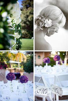 purple and silver wedding | Purple and Silver California Wedding | WeddingWire: The Blog