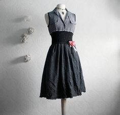 Women's Retro Dress Upcycled Clothing by BrokenGhostCouture, $109.00