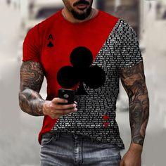 Poker, Top Tee, Impression 3d, Tee T Shirt, Moda Casual, T Shirt Photo, Estilo Retro, Printed Shorts, Tshirts Online