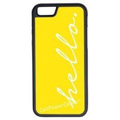 CellPowerCasesTM Hello Yellow iPhone 6 (4.7) V1 Black Case