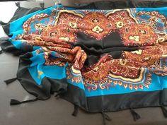 Bommeltuch Umschlag Tuch-Stola Halstuch-foulard-Hijab-Amira Kaschmir Schw Eripek
