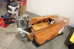 Vintage wooden outboard racer #APBA