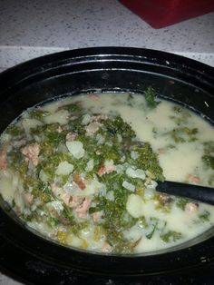 "Olive Garden Crock pot/slow cooker Tuscany zuppa soup! """"  @allthecooks #recipe"