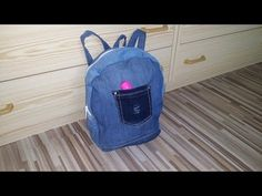 DIY - How to make Backpack (Knapsack) from old jeans - YouTube