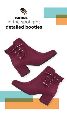 cd73b4fc361884 IN THE SPOTLIGHT. Find new booties at Kohl's. For ankle boots that make the