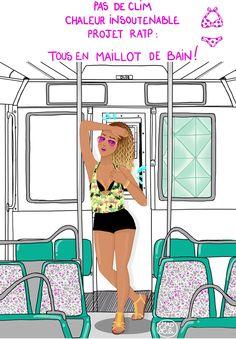 Chaleur humaine - Mad Lili #sun #Paris #ratp #curls #curlyhead