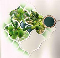 """Scrap à Chambé: Quelques feuilles.... """"vert olive"""" sur page double...verso page 1"""