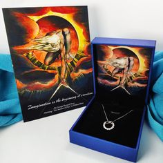 William Blake Art and Literary Birthday Anniversary Gift - Silver Necklace with Zircon + Personalized Birthday Card William Blake Paintings, William Blake Art, Birthday Gifts For Her, Birthday Cards, Presents For Her, Blue Zircon, Sterling Silver Pendants, Anniversary Gifts, Necklaces