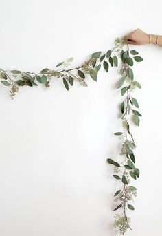 eucalyptus garland  Maybe make to go around my copper shelf