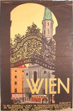Image result for Vienna antique posters