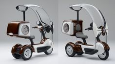 Honda has added electric propulsion to its Japanese domestic market three-wheeled scooter, the Canopy - an electric version of the protected three wheeler, with its capacious cargo space, is certain to create an insatiable demand