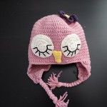 crochet owlhat for girls made by nines design