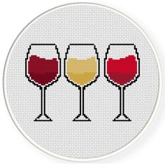 Colors Of Wine Cross Stitch Illustration