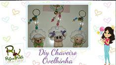 Diy Chaveiro Ovelinha em biscuit - Rejane Kesia