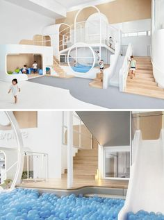 Design studio Frostcollective have worked together with Joey Ho and Patrick Leung from PAL Design Architects to create NUBO a fun and exciting childrens play centre in Sydney Australia. Playroom Design, Kids Room Design, Playroom Ideas, Children Playroom, Childrens Play Centre, Kids Play Centre, Kindergarten Design, Room Interior, Interior Design