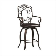 Linon Crested Back Counter Stool 24