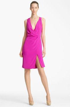 Thakoon - Faux Wrap Silk Dress.