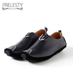 on sale 58925 ba575 Prelesty Marca Botín Urbano de Lujo Vestido de Los Hombres Zapatos de Los  Holgazanes Slip-