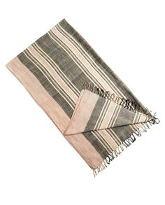 Wayfarer striped beach blanket / wrap / sarong. This lightweight blanket works as a scarf or sarong for travel days.
