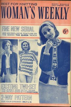 Woman s Weekly Knitting Patterns : 1000+ images about Original Vintage Knitting Patterns on Pinterest Knitting...
