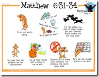 Bible verse charts, copy work, and coloring sheets for lots of verses.  The visual cues for kids is great!