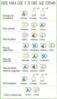 ¡Toma más té! Mira aquí algunos ejemplos de té para bajar de peso