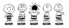 Charlie Brown through the years! #Peanuts #History