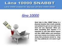 Snabblån - Låna 10000