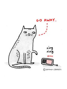 the introverted cat by gemma correll, via Flickr