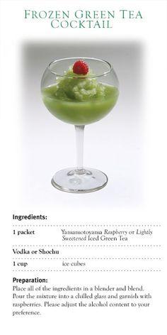 Frozen Green Tea Cocktail