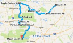 Take This Road Trip Through Arkansas's Most Picturesque Small Towns For A Charming Experience Ways To Travel, Rv Travel, Adventure Travel, Places To Travel, Adventure Movies, Camping Places, Travel List, Travel Ideas, Arkansas Waterfalls