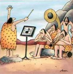 jazz band - Gary Larson the Far Side Far Side Cartoons, Far Side Comics, Music Jokes, Music Humor, Funny Music, Comics Illustration, Illustrations, Caveman Cartoon, Archive Music