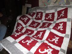 Alabama Crimson Tide Full Size Alabama Quilt