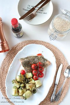 Zalm met courgetterolletjes van Pascale Naessens | Hapjes Princess: Don't eat less - Eat better | Bloglovin