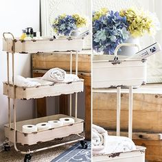 Our tool cart is a 3 tier rolling cart that will be great in the kitchen, garden shed, or even bathroom. Use this utility cart to hold potting tools, kitchen supplies and even bathroom essentials! For more visit, www.decorsteals.com OR www.facebook.com/decorsteals.