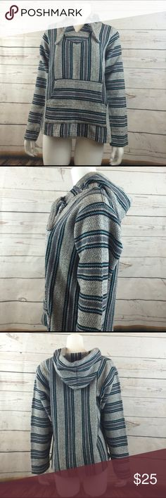 poncho authentic made in  Mexico Mexican poncho. size says large but fits like medium. not free people   but posted under for exposure. goes great with summer night bonfire parties on the beach ! 🎉🍻😘 Free People Jackets & Coats Utility Jackets