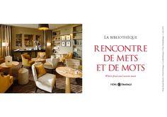 Décoration et création de la carte et du menu du restaurant La Bibliothèque
