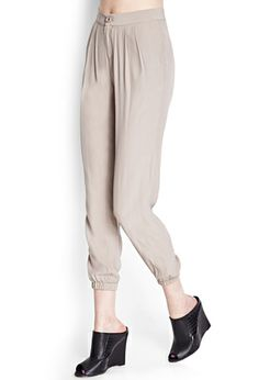 Pleated Crepe Woven Joggers   FOREVER 21 - 2000062150